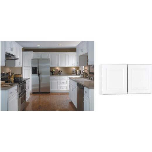 Continental Cabinets Hamilton 30 In. W x 18 In. H x 12 In. D Satin White MapleBridge Wall Kitchen Cabinet