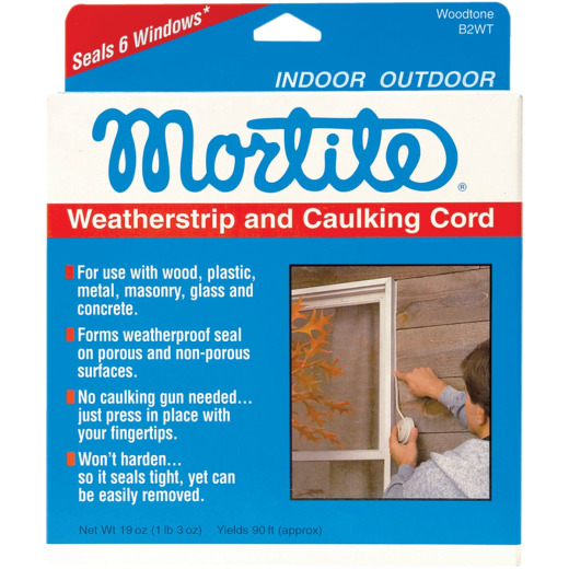 Mortite 90 Ft. Woodtone 19 Oz Weatherstrip & Caulking Cord