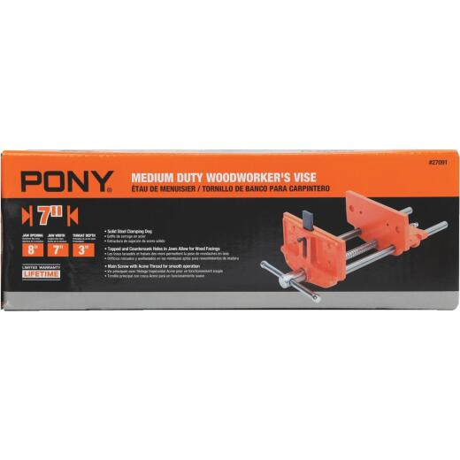 Pony 7 In. Medium Duty Woodworker's Vise