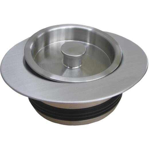 Lasco Satin Nickel PVC Disposal Flange & Stopper