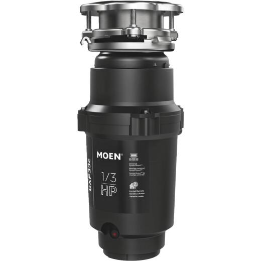 Moen 1/3 HP Galvanized Steel Garbage Disposal, 2 Year Warranty