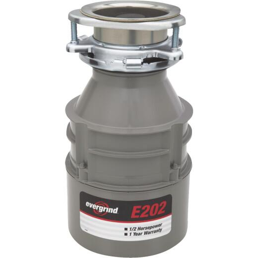 Evergrind 1/2 HP Garbage Disposal, 1 Year Warranty