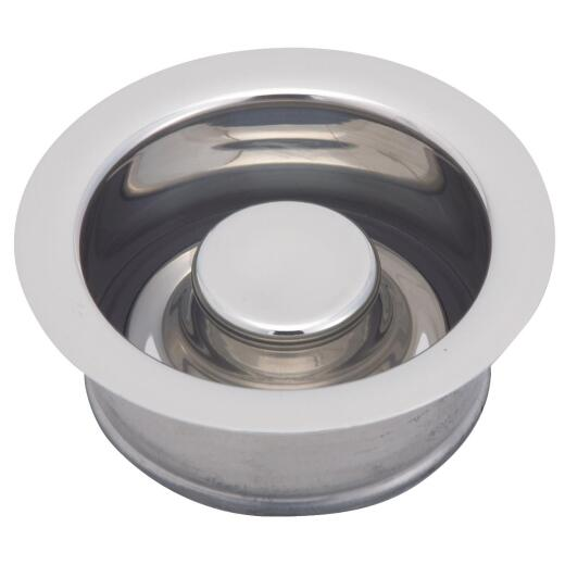 Do it Polished Chrome Brass Disposal Flange & Stopper