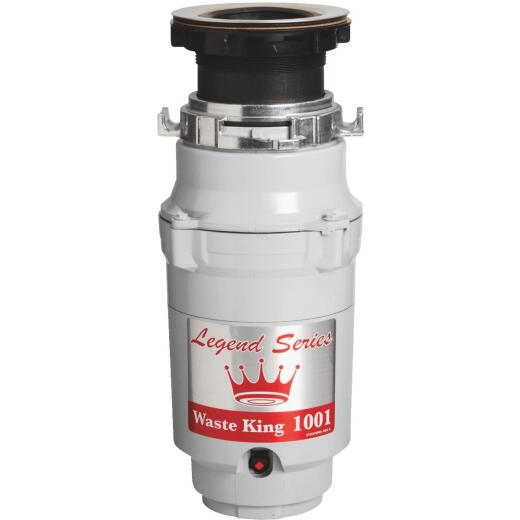 Waste King Legend Series 1/2 HP Garbage Disposal, 2 Year Warranty