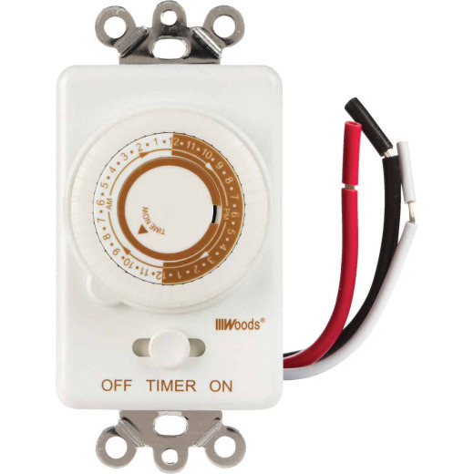 Woods 125V In-Wall 24-Hour Mechanical Timer