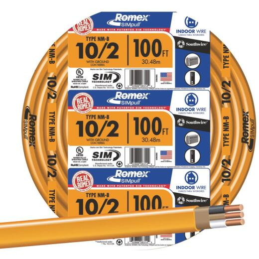 Romex 100 Ft. 10-2 Solid Orange NMW/G Wire