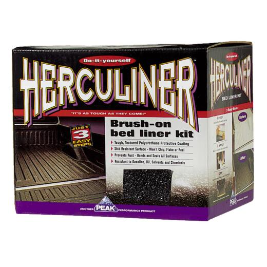 PEAK Herculiner Gal. Brush-On Bed Liner Kit, Black