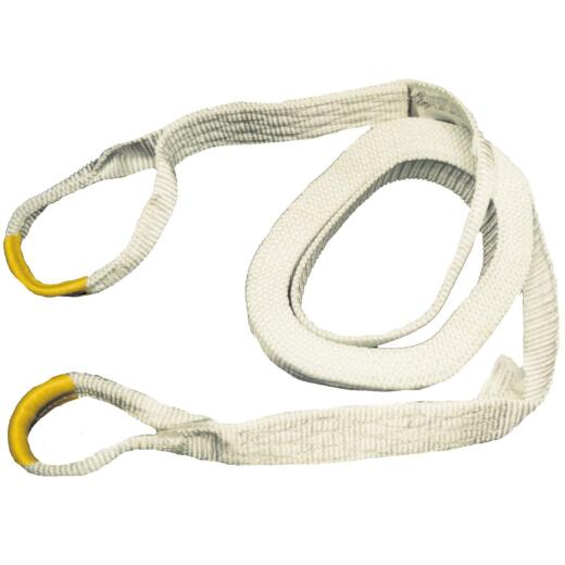 Erickson 2 In. x 30 Ft. 9000 Lb. Polyester Recovery Tow Strap, White