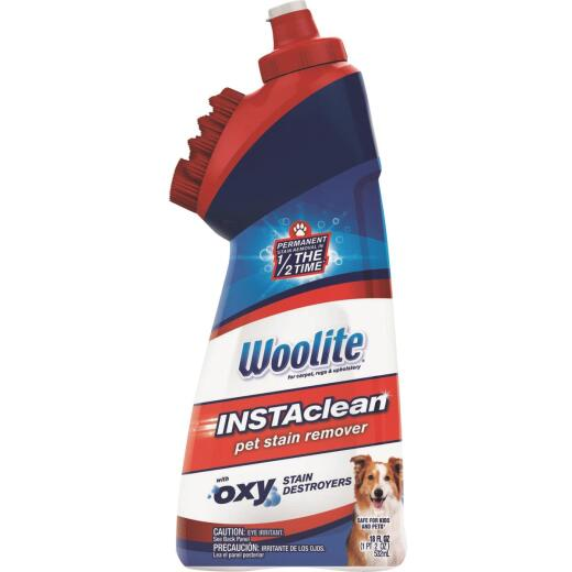 Woolite 18 Oz. INSTAclean Pet Stain Remover Oxy Stain Destroyers Formula with 2-In-1 Built-In Rinseable Brush