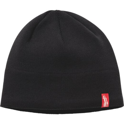 Milwaukee Fleece Lined Black Beanie Sock Cap