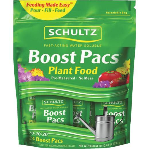 Schultz Boost Pacs 10.24 Oz. 20-20-20 Dry Plant Food (24-Pack)