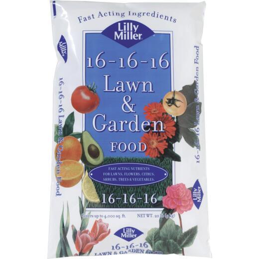 Lilly Miller 20 Lb. 4000 Sq. Ft. 16-16-16 All Purpose Fertilizer