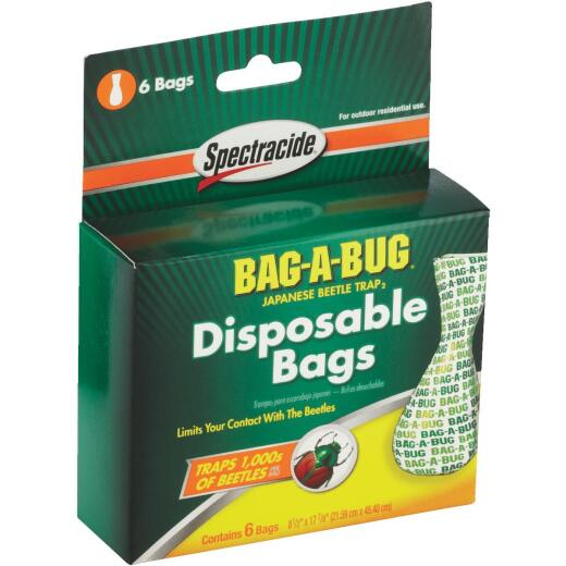 Spectracide Bag-A-Bug Plastic Japanese Beetle Trap Replacement Bag (6-Pack)