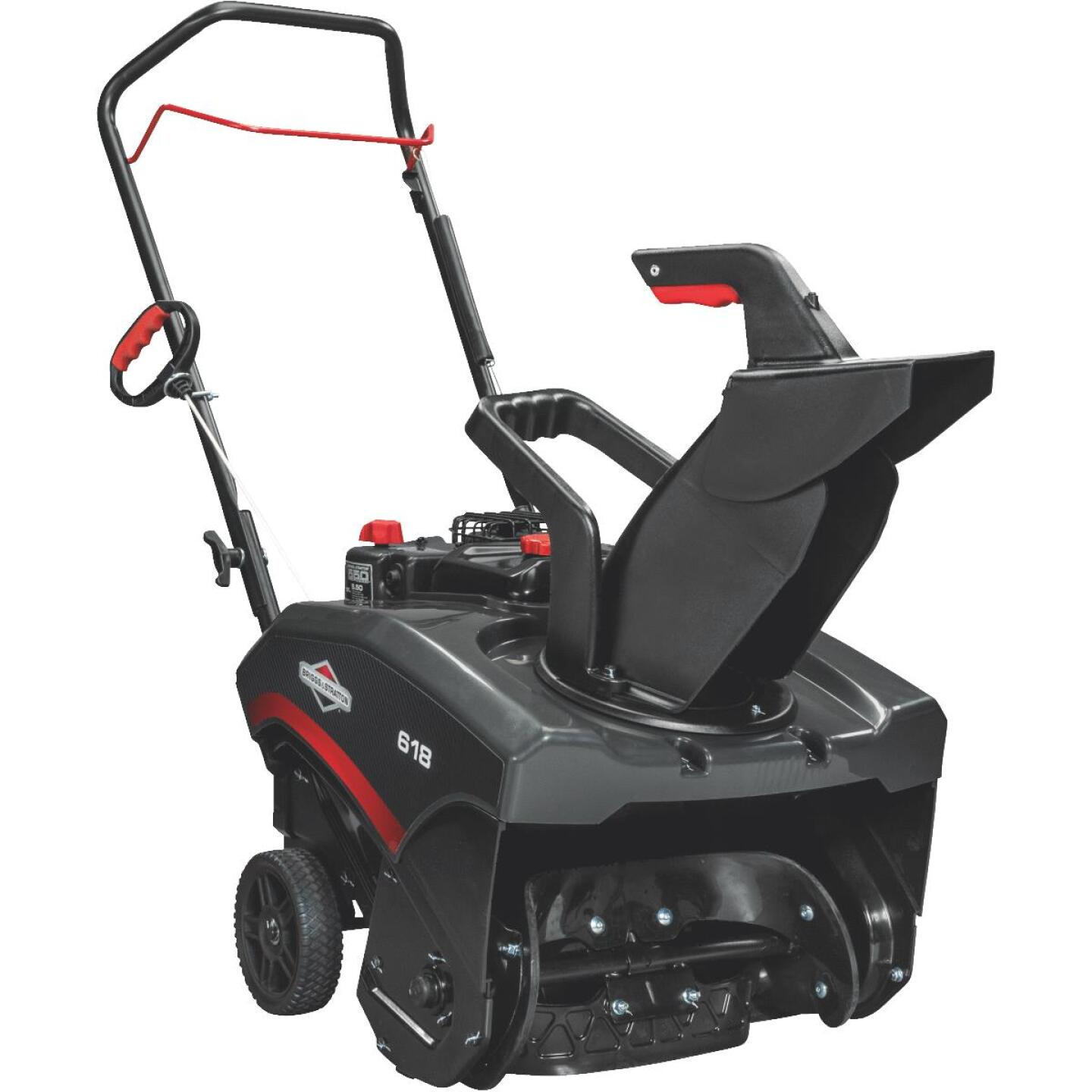 Briggs & Stratton 18 In. 127cc Single Stage 5.5 TP Manual Rotation Gas Snow Blower Image 1