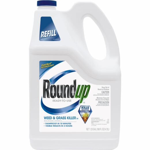 Roundup 1.25 Gal Ready To Use Refill Weed & Grass Killer III