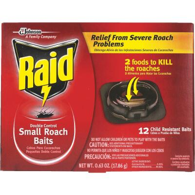 Raid 0.63 Oz. Solid Roach Bait Station (12-Pack)