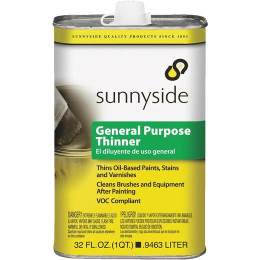 Sunnyside 1 Quart Low VOC General Purpose Paint Thinner
