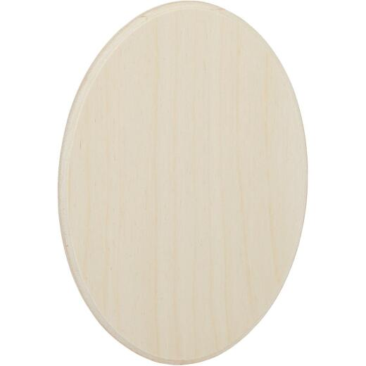 Walnut Hollow 5.25 In. x 7.25 In. Oval Unfinished Wood Plaque