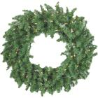 Gerson 36 In. 150-Bulb Clear Incandescent Canadian Pine Prelit Wreath Image 1